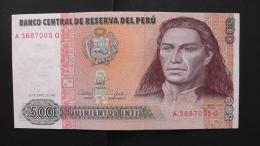 Peru - P 134b - 500 Intis - 1987 - Unc - Peru