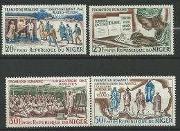 "Niger YT 158 à 161 "" Promotion Humaine "" 1965 Neuf** - Níger (1960-...)"