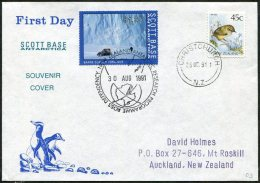 ANTARCTICA 1991 New Zealand Ross Dependency SCOTT BASE Local Vignette FDC Off-road All-terrain Tracked Vehicle CAR - Other Means Of Transport