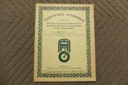 TECHNOLOGIE AUTOMOBILE PAR E. GASTAUD Fascicule N°5 Organes Du Moteur, Distribution, Carburation, Gazogène - Tools