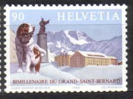 Zu 774 / Mi 1389 / YT 1318 2000 Ans Col Grand St Bernard Chien ** / MNH - Neufs