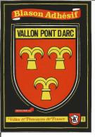 Blason Armoiries  Ardéche Vallon Pont D´ Arc Héraldique Ecusson Adhésif - Vallon Pont D'Arc