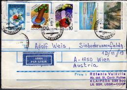 UdSSR 1990 - Bedarfsbrief Litauen Nach Wien - 1923-1991 USSR