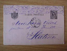 RUMÄNIEN, 23.01.1892, GSK Mit STEMPEL Von CRAIOVA Nach SLATINA Gelaufen - Cartas