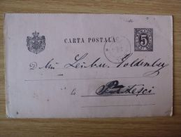 RUMÄNIEN, 13.03.1892, GSK Mit STEMPEL Von CARACAL - Cartas