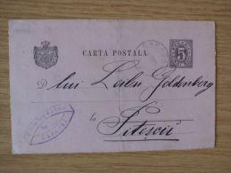RUMÄNIEN, 01.10.1891, GSK Mit STEMPEL Von CARACAL - Cartas