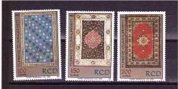 TURKEY 1974   Iranian Carpets Unificato  Cat. N° 2097/99  Mint Never Hinged** - Textile