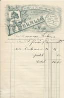 LE MANS LAVARDAC FABRIQUE DE BOUCHONS F DUHALLE LETTRE ENTETE TAUPETTES LIEGES SEMELLES ANNEE 1902 - France