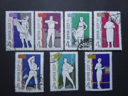 Russie. 1962. Yvert N° 2570 à 2576 Oblit. Pour Le Bien-être Du Peuple. Métiers Et Activités Divers. - 1923-1991 UdSSR