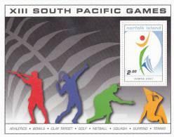Norfolk Island-2007 South Pacific Games Souvenir Sheet MNH - Norfolk Island