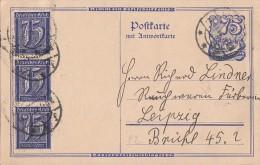 DR Ganzsache Antwortkarte Zfr. Minr.3x 185 - Allemagne