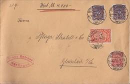DR Wertbrief Mif Minr.194,2x 207,225 Nürtingen 5.12.22 Perfins FE Franz Entress - Briefe U. Dokumente