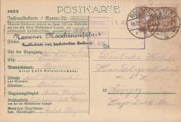 DR Meldekarte EF Minr.114 Nossen 10.7.22 - Cartas