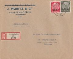 DR R-Brief Mif Minr.7,11 Pfaffenhofen 14.9.40 - Besetzungen 1938-45
