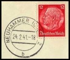 Deutsches Reich / Germany: 'Hindenburg-Medaillon - Stempel Neuhammer Am Queis, 1941' - Germania