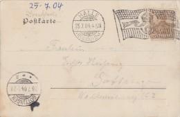 DR AK Halle/S. E Minr.69 Flaggenstempel Halle 25.7.04 - Deutschland