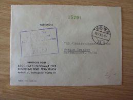 DDR, 1963, ZKD-BELEG Vom BESCHAFFUNGSAMT FÜR RUNDFUNK UND FERNSEHEN Von BERLIN O 34 Nach BERLIN-TREPTOW 1 - Oficial