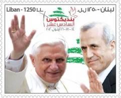 Libanon 2012 ** Van Paus Benedictus XVI In Het Vaticaan In Libanon, September 14-15-16 - Libanon