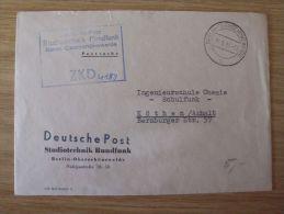 DDR, 30.09.1964, ZKD-BELEG Der DEUTSCHEN POST, STUDIOTECHNIK RUNDFUNK, Mit STEMPEL V. BERLIN-OBERSCHÖNEWEIDE Nach KÖTHEN - Oficial