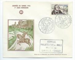 Premier Jour - Enveloppe - Cercle Philathélique De L'Aigle  -(ORNE) Journée Du Timbre 1956 - 17/3/56 - Millesimi