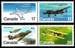 Canada (Scott No. 874a-76a - Avions / Planes) [**] Série De 4 / Set Of 4 Se-tenant - 1952-.... Reign Of Elizabeth II