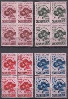 Germany Occupation Of Serbia - Serbien 1941 Mi#54-57 I Vbl (block Of Four) Mint Never Hinged - Occupation 1938-45