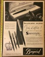 PUB PUBLICITE 50/60 STYLO PLUME SOUVERAIN DE BAYARD - Stamps