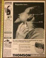 PUB PUBLICITE 50/60 RASOIR ELECTRIQUE THOMSON POUZET A CONVERTI LE PERE NOEL - Stamps