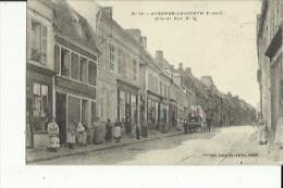 Avesnes-le-Comte  62   La Grande-Rue   Tres Tres Animée Epicerie Café Et Attellage                              L - Avesnes Le Comte