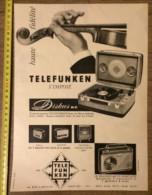 PUB PUBLICITE 50/60 ELECTROPHONE TELEFUNKEN DISKUS - Stamps
