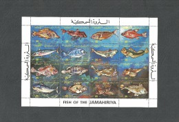 1983- Libya-Fish Of The Jamahiriya - Minisheet MNH** - Libia