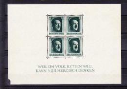 ALLEMAGNE MI BL 7 ( * ), SANS GOMME, BLOC DECHIRE EN COIN. (6B18) - Deutschland