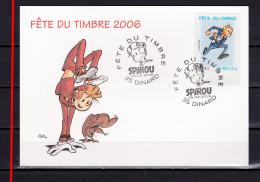 FRANCE 2006 : SPIROU  FETE DU TIMBRE : FANTASIO / CARTE - Storia Postale