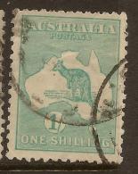 AUSTRALIA 1915 1/- Die IIB Roo SG 40b U #RF18 - Usados