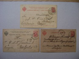 3 FULL Circulated AS - 1857-1916 Imperio
