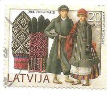 2005 Latvia Gloves  - Popular Articles 20 SANTIMI   Used (0) - Lettonie