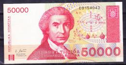 CROATIE 1993, BILLET DE 50 000 DINARS ( Croates). (6AB1) - Croatie