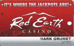 Red Earth Casino Salton Sea Beach CA Slot Card - Casino Cards