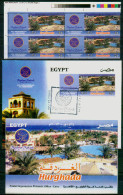 EGYPT / 2013 /  4 STAMPS + FDC + OFFICIAL BULLETIN / TOURISM / HURGHADA / MAKADI ( RESORT ; GOLF & SPA ) - Nuovi