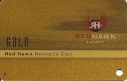Redhawk Casino Placerville CA Slot Card - Blank Card With Gold Reverse - Casino Cards