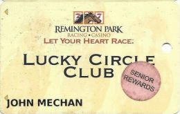 Remington Park Casino Oklahoma City OK - Slot Card With Senior Rewards Sticker - Casino Cards