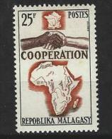"Madagascar YT 399 "" Coopération "" 1964 Neuf** - Madagascar (1960-...)"