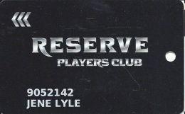 Reserve Casino Central City CO Slot Card - Casino Cards