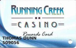 Running Creek Casino Upper Lake CA - Slot Card - Casino Cards