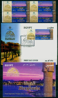 EGYPT / 2013 / 4 STAMPS + FDC + OFFICIAL BULLETIN / TOURISM / HURGHADA ; OLD TOWN ; SAHL HASHEESH ( RED SEA ) - Nuovi