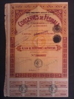 1 Conserves FEDHALA Sardinerie MAROC 1000 FR + Coupons - Actions & Titres
