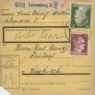 Paketkarte -Frankatur Deutsch In Luxemburg Gebraucht - Luxemb.2  ( K1125   ) Siehe Scan - Duitsland