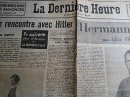 Article Herman Goering Dans La Dernière Heure (premiere Rencontre Avec Hitler) - Aviation
