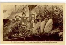 Carte Postale Ancienne Chalon Sur Saône - Carnaval 1936. Les Demoiselles D'Honneur - Chalon Sur Saone