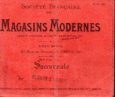 Porte-traiteMAGASINS MODERNES Succursale De OLORON SAINTE MARIE 1921 (PPP2392) - Non Classés